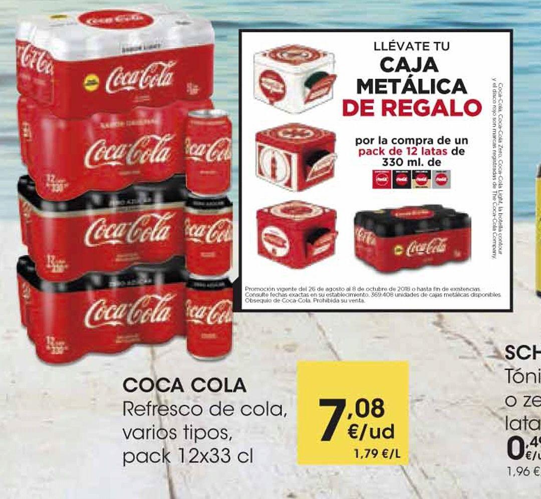 Caja metálica Coca-Cola coleccionable [GRATIS] por la compra de un pack 12 latas