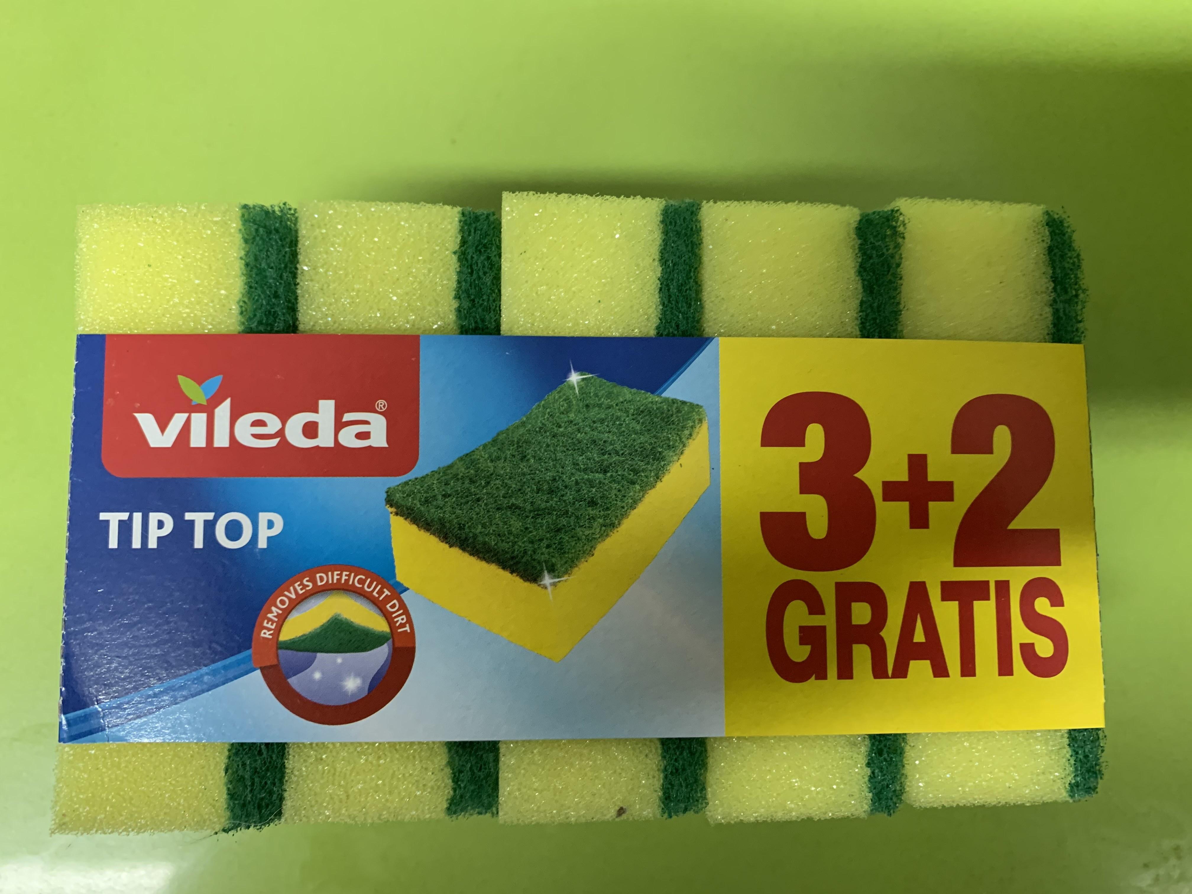 5x Estropajo con esponja vileda x1€ en supermercado Más mairena del Aljarafe (nuevo bulevar)