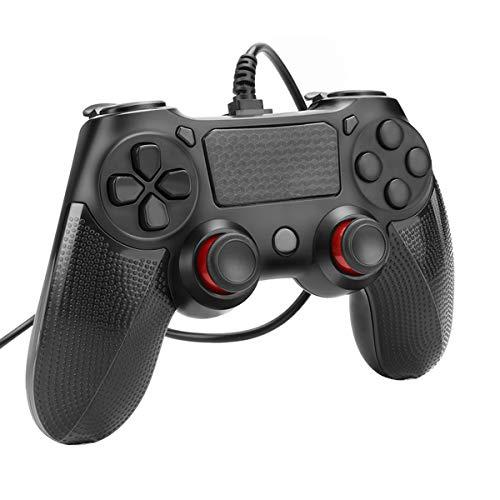 Mando para PS4 / PS4 Slim / PS4 Pro y PC con Cable Joysticks con Doble vibracion Turbo