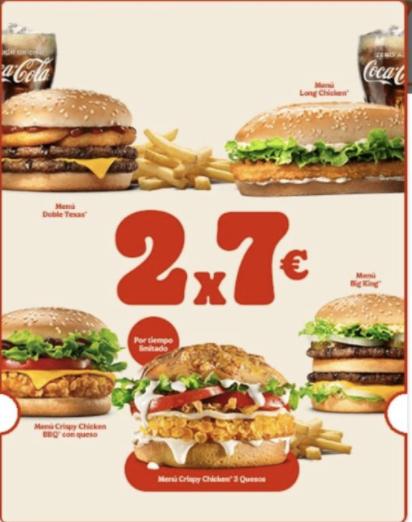 Crispy Chicken 3 Quesos en el 2x7€ (tiempo limitado)