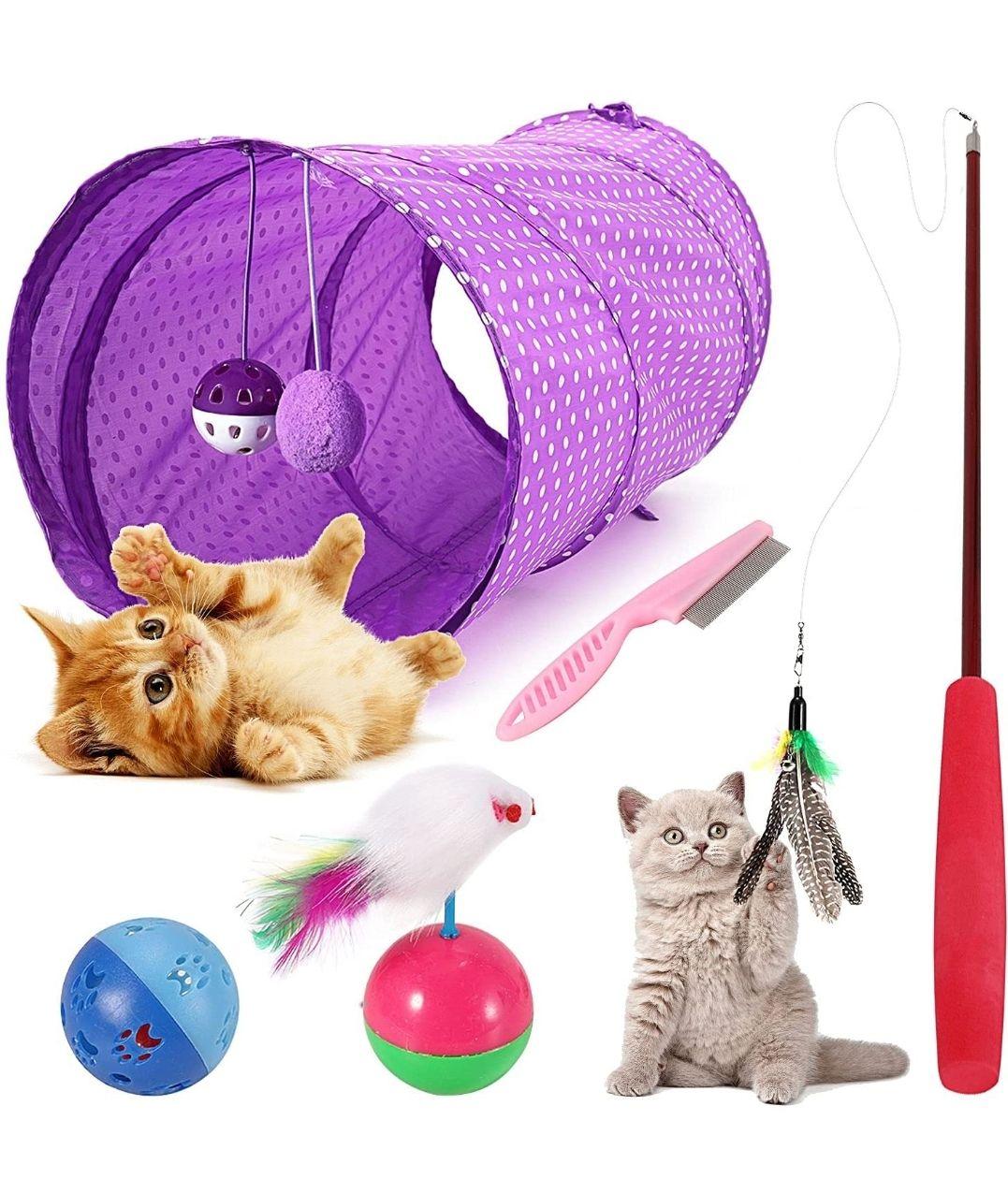 Surtido 5 juguetes para gatos