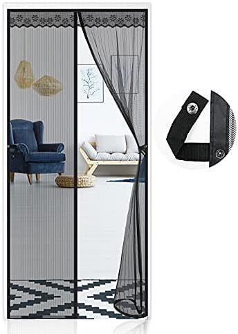 Cortina Mosquitera Magnética para Puertas, varias medidas, también en blanco