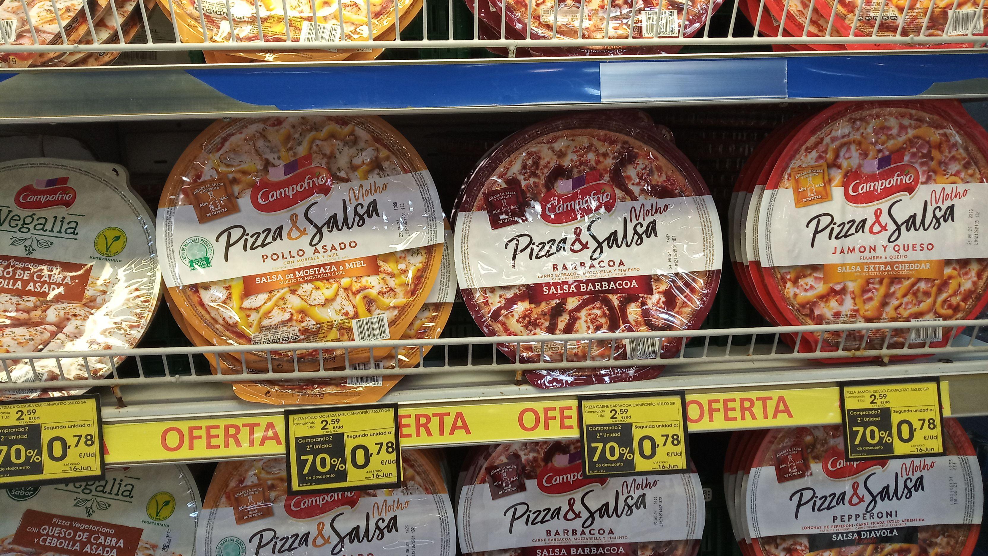 2 Pizzas Campofrio (segunda unidad a 0,78)