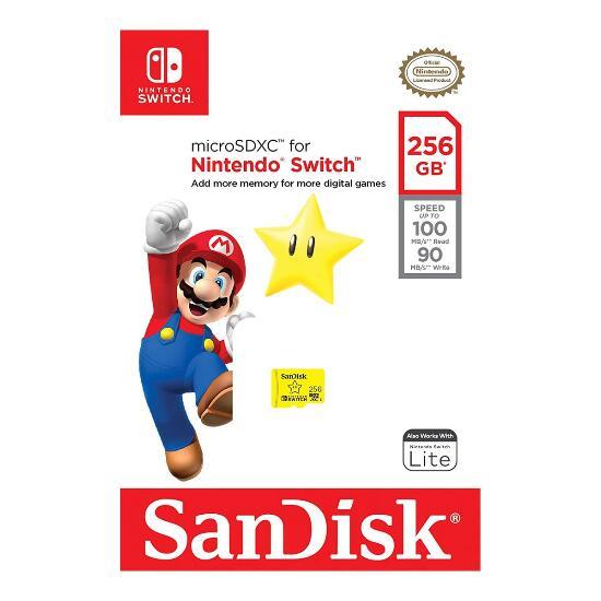 Tarjeta de memoria MicroSD SanDisk Nintendo oficial 256 GB para Nintendo Switch por 36,35 € | 128 GB 20,65 € | 64 GB 12,39 €