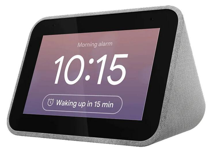 Lenovo Smart Clock ZA4R0025SE, 1 GB RAM, 3 W, WiFi, Bluetooth, Gris