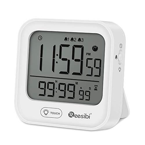 Reloj Despertador Digital con Temporizador Cronómetro.
