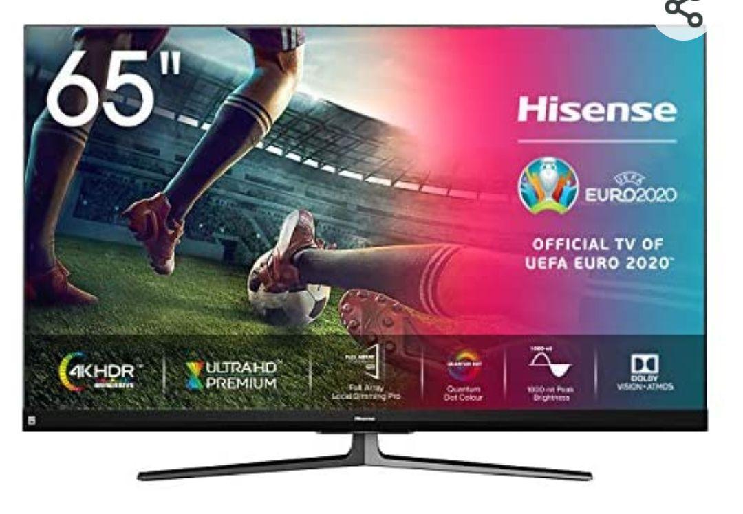 "Hisense ULED 2020 65U8QF - Smart TV 65"" Resolución 4K, Quantum Dot, FALD, Dolby Vision, Dolby Atmos con Alexa"