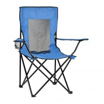 Silla Camping Plegable de Aluminio (Azul y Verde)