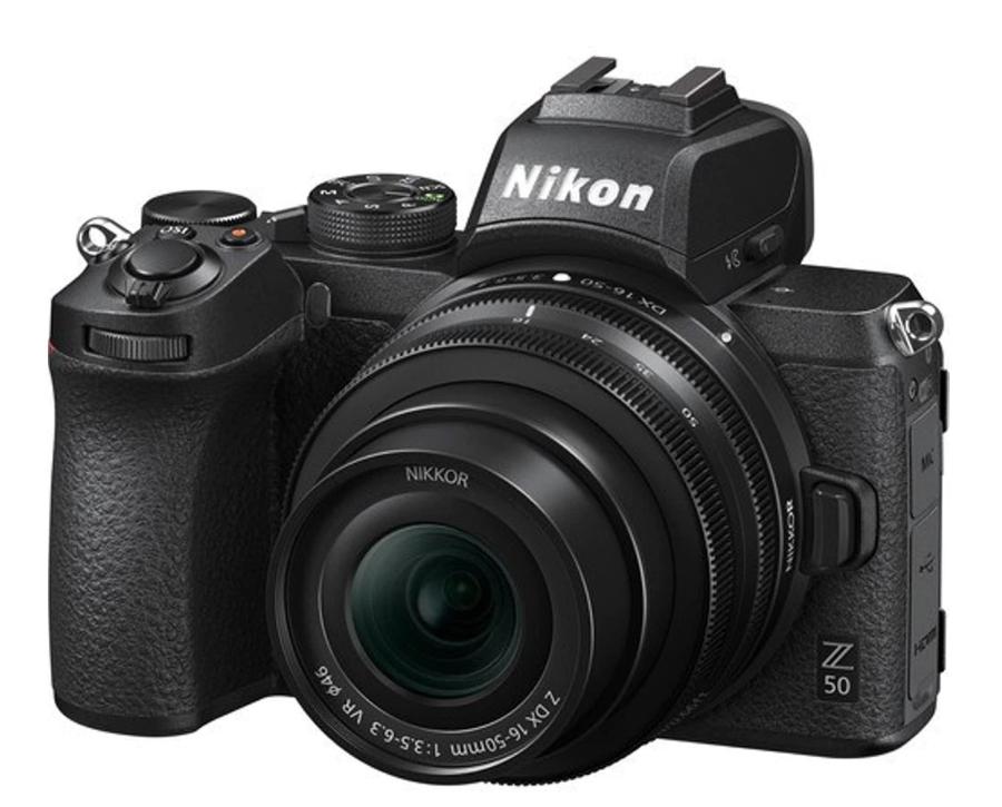 Cámara Evil Nikon Z 50 con Objetivo Z 16-50 mm DX VR + Tarjeta SD 64GB + Trípode