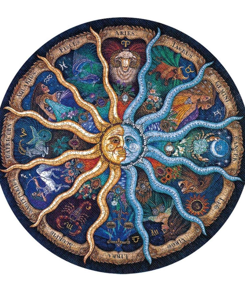 Puzzle circular constelaciones / horoscopo