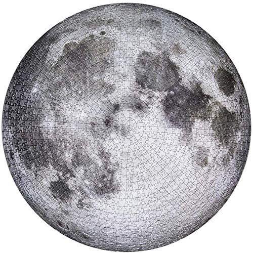 Puzzle circular, 1000 piezas, luna (más en descripción)