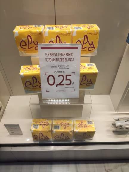 Paquete 70 servilletas de papel en Arenal