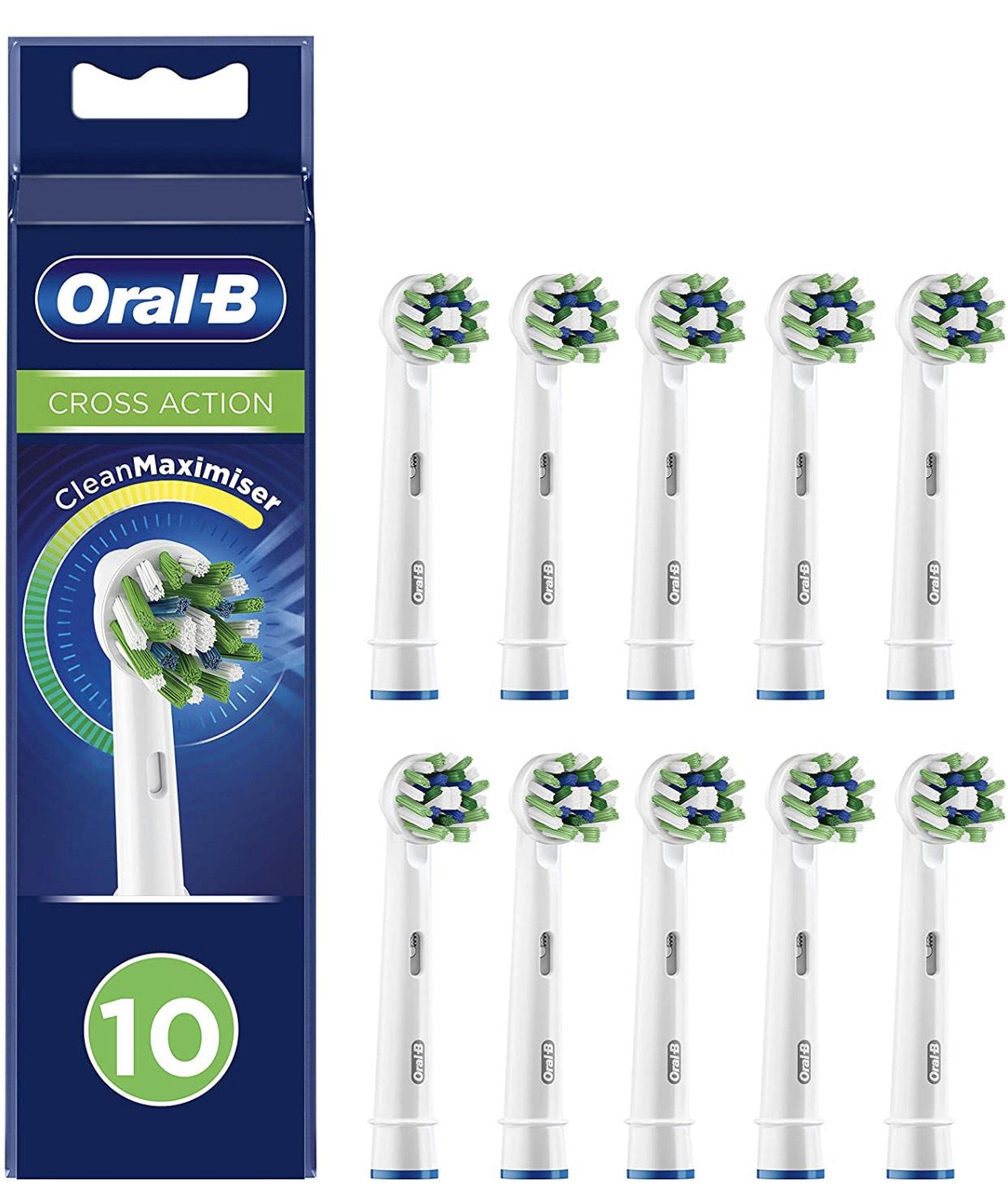 10 Cabezales Oral B CrossAction