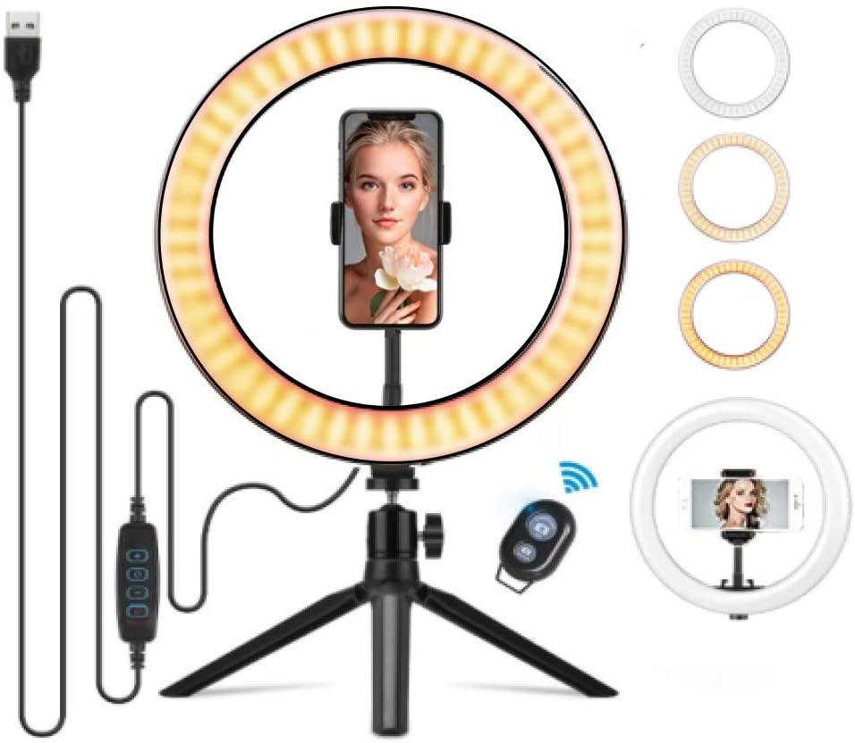 """Anillo ARO DE LUZ LED 10,2""""(26 cm) con Trípode. Por 9,32€"""
