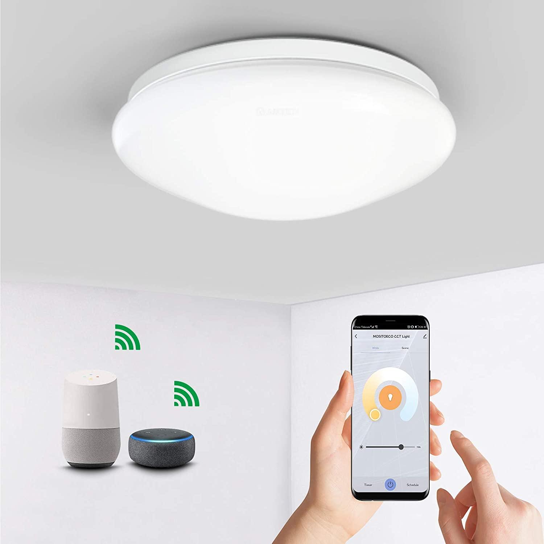 Lámpara techo Alexa & Google solo 15.9€