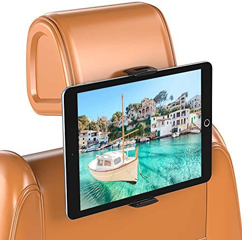 Bovon Soporte Tablet Coche, Soporte iPad Coche con Silicona Antideslizante, Giratorio 360°, Soporte Tablet Coche