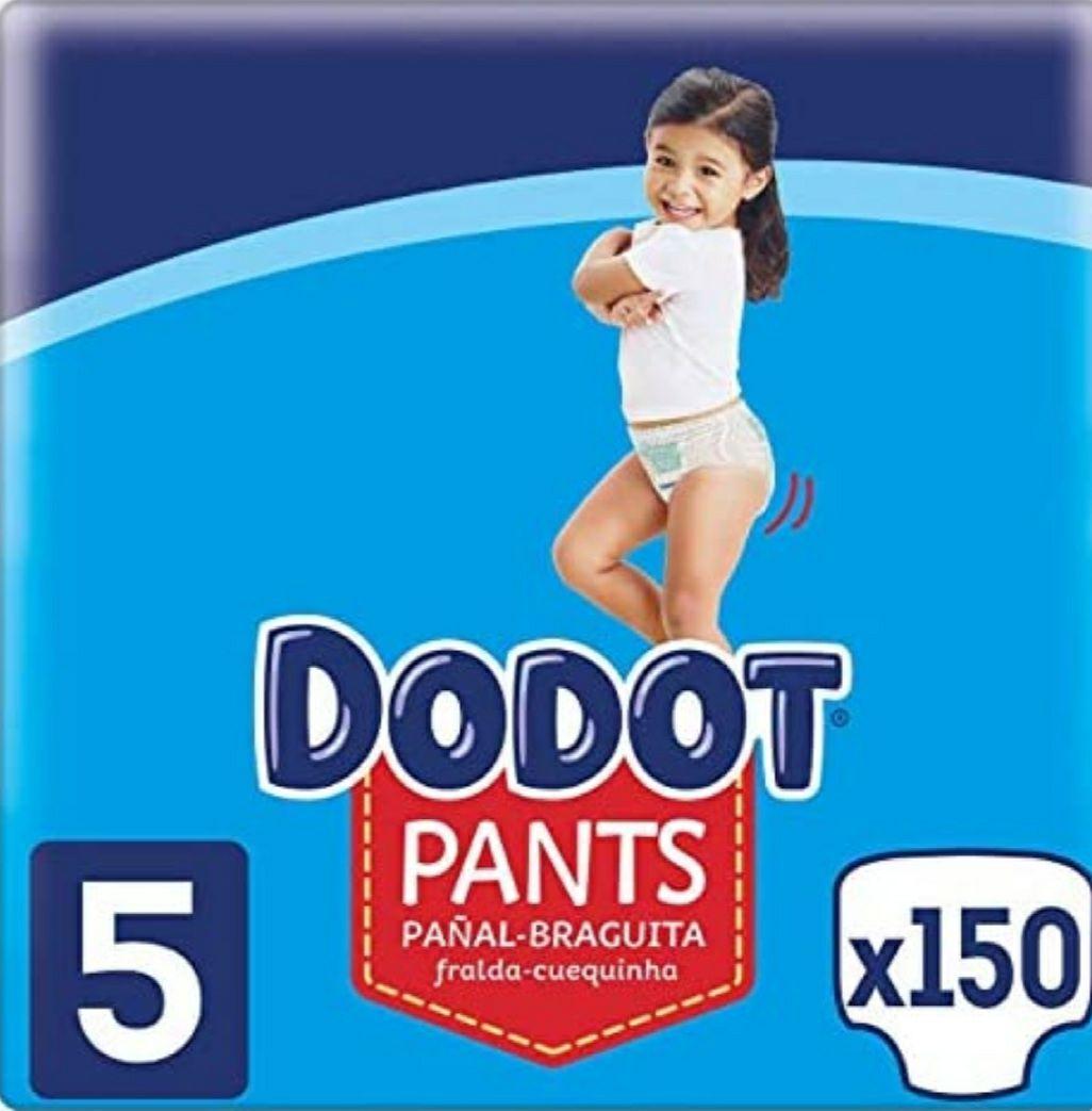 Dodot Pañales Bebé Pants Talla 5 (12-17 kg), 150 Pañales Ajuste 360° Anti-Fugas. Envio e impuestos incluidos