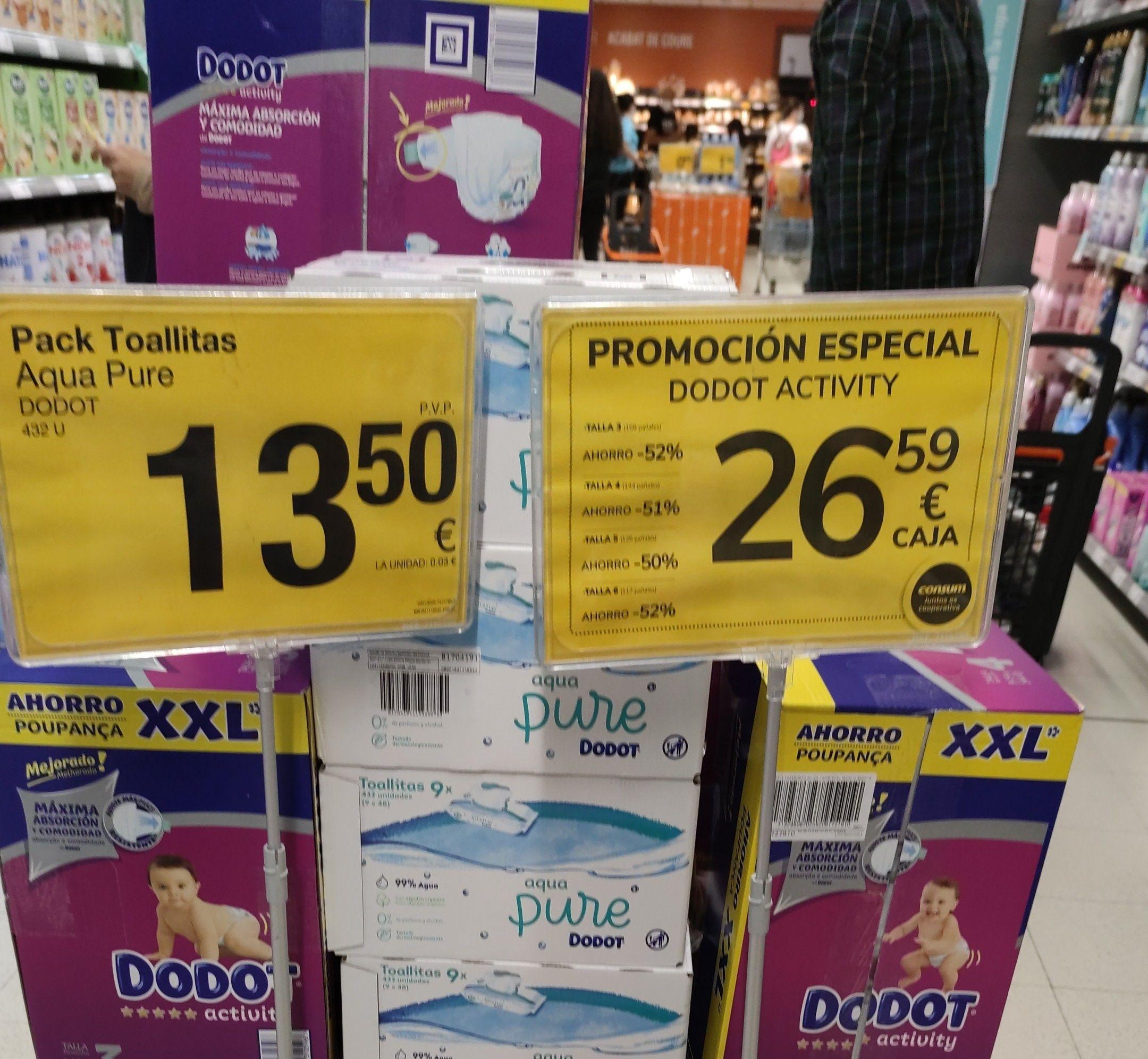 Paquete de pañales Dodot Activity XXL 26'59 euros