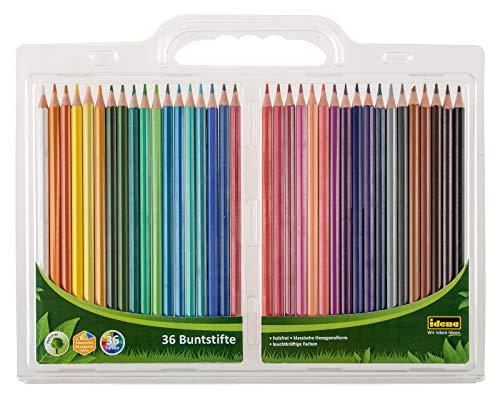 Lápices de colores, forma hexagonal clásica, 36 colores diferentes. Por 6,02€
