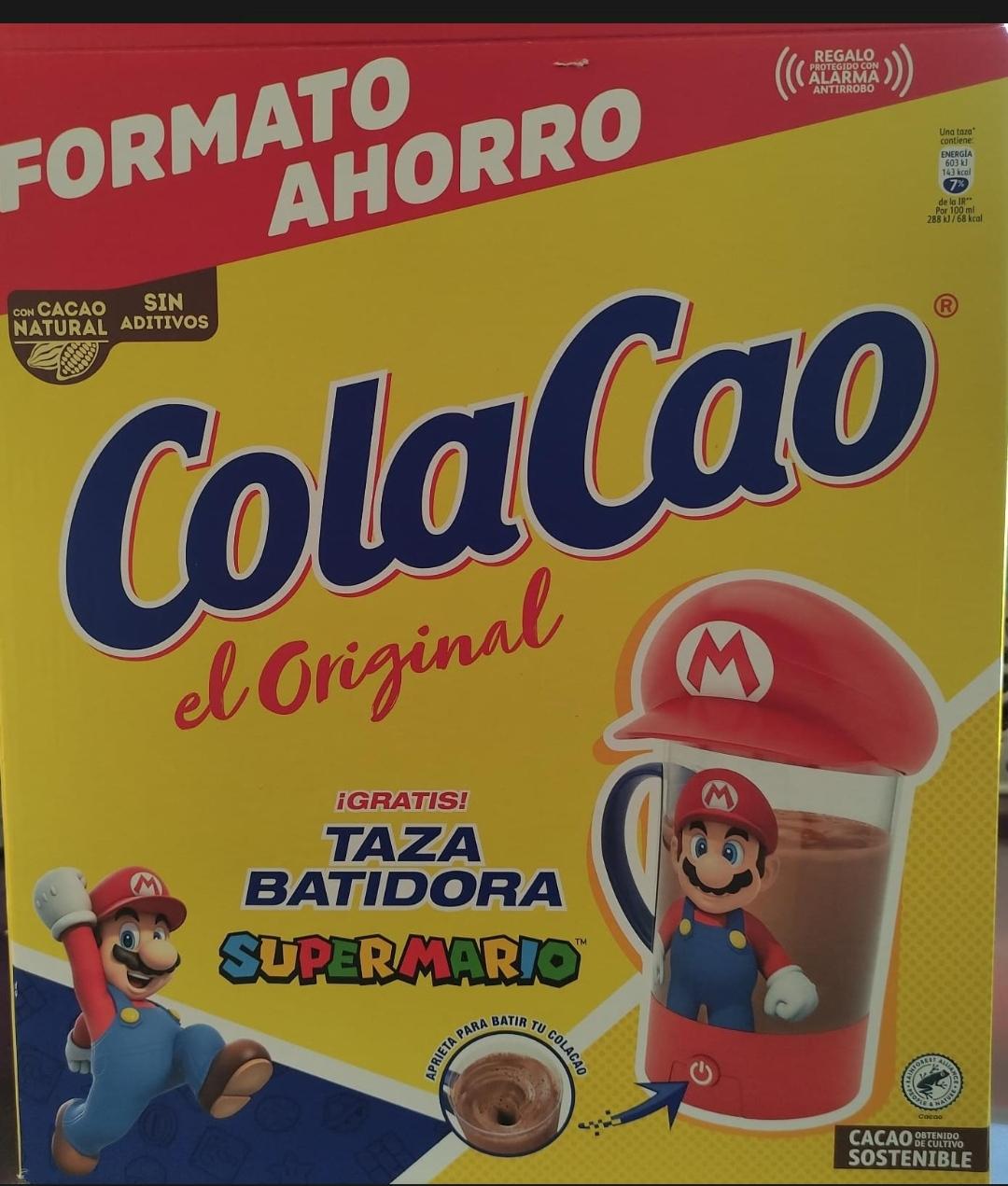 Cola cao 2.7 kg Baticao Mario Bros en *Alcampo*