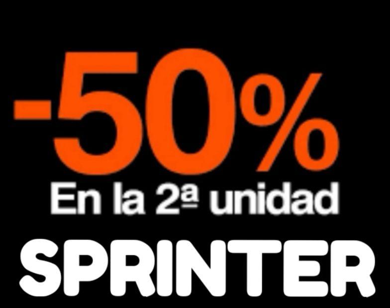 PROMO SPRINTER! 2° Unidad al 50% de dto.en variedad de productos!