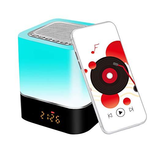 Lámpara 5 en 1, Altavoz Bluetooth, Calendario digital, Reloj despertador, con Control táctil 1200 mAh. Por 14,30€