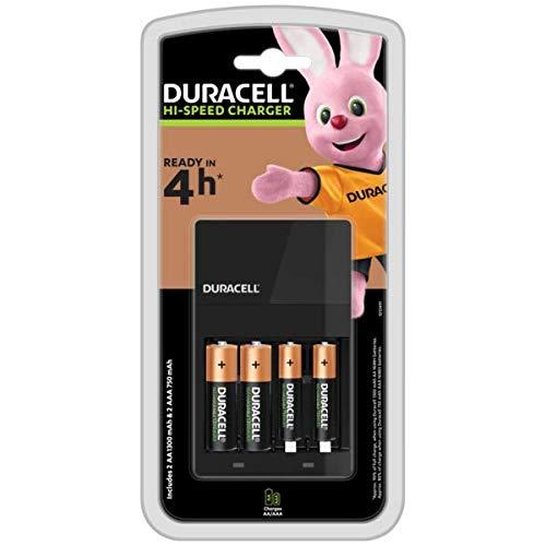 Duracell - Cargador de pilas más 4 pilas recargables (Precio mínimo)