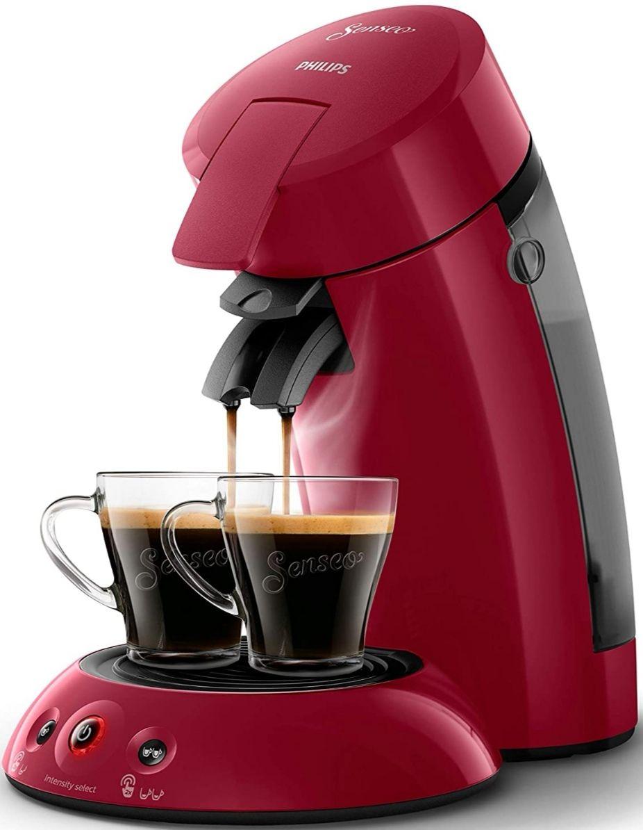 Cafetera de cápsulas PHILIPS Senseo Original, con tecnología Coffee Boost y Crema Plus, selección de intensidad
