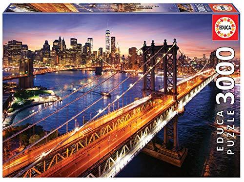 Puzle de 3000 piezas Manhattan al Atardecer