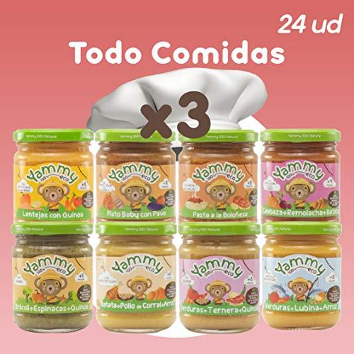 Yammy Pack 24 Comidas Potitos 100% Ecologicos - Recurrente