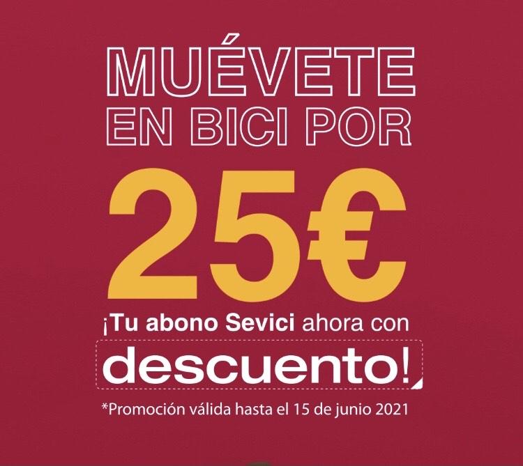 Tu abono Sevici ahora por 25€