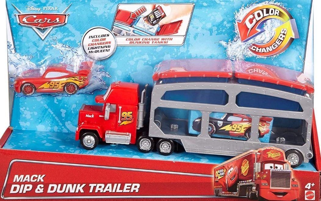 Disney Cars camión transportador de coches. Incluye coche que cambia de color [Tb Corte Inglés]