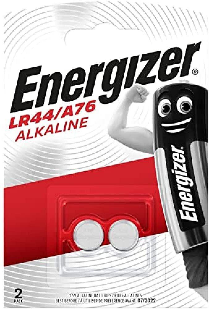 Energizer LR44/A76: Pilas, Paquete de 2, Plata