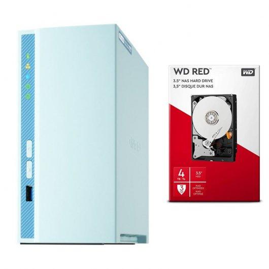 NAS QNAP + 1 disco duro 4TB WD Red por sólo 319€!