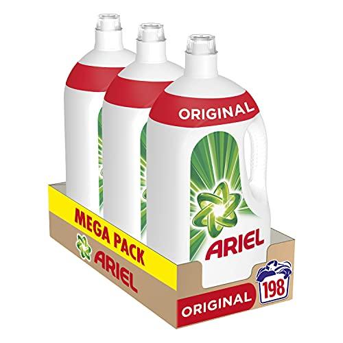 Ariel Detergente Lavadora Líquido, 198 Lavados (Pack 3 x 66) (0,15 x lavado)