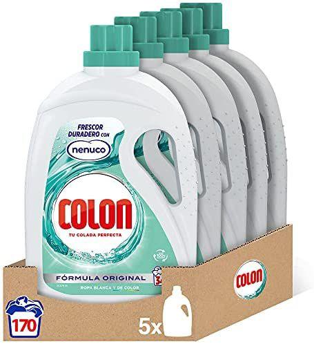 Colon Nenuco - Detergente para lavadora, formato gel - Megapack de 5, hasta 170 dosis (compra recurrente)