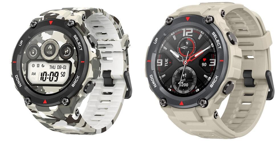 Smartwatch Amazfit T-Rex Army khaki y Army Camuflaje por 79,90 €