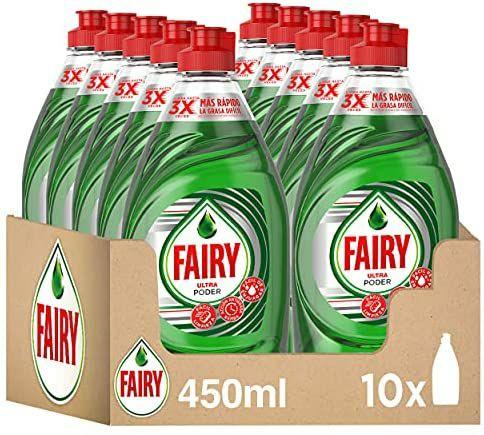 Fairy Ultra Poder Lavavajillas a Mano 10 x 450ml ( compra recurrente)
