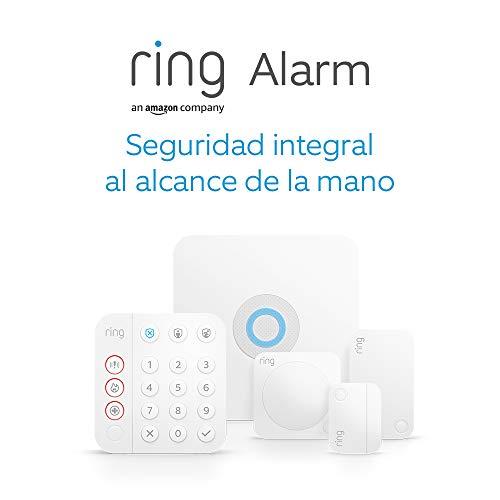 Nuevo kit de 5 piezas Ring Alarm de Amazon (2.ª generación) | Sistema de seguridad para el hogar compatible con Alexa