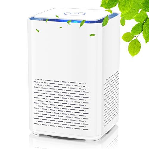 QUARED Purificador de Aire con Filtro HEPA y carbón activado, con Función de Aromaterapia y Luz Nocturna