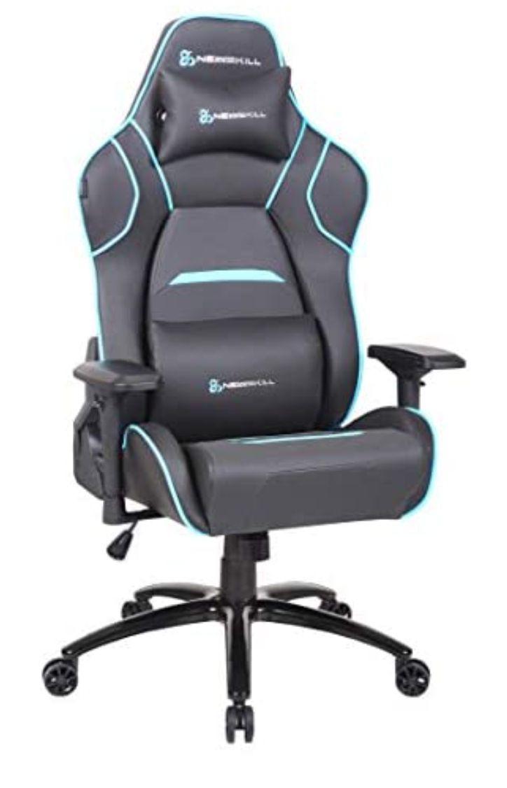 Silla gaming profesional con asiento microperforado para mejor sensación térmica (sistema balanceo reclinable 180 grd, reposabrazos 4D
