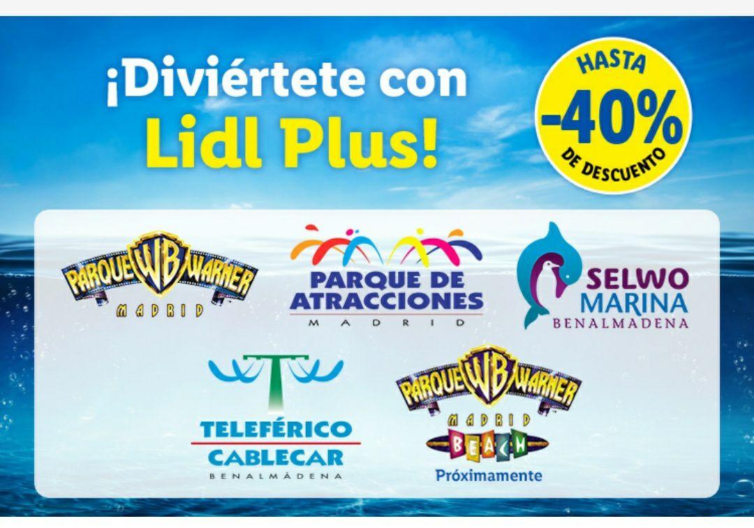 Descuentos del 40% en parques de atracciones con la aplicación del LIDL