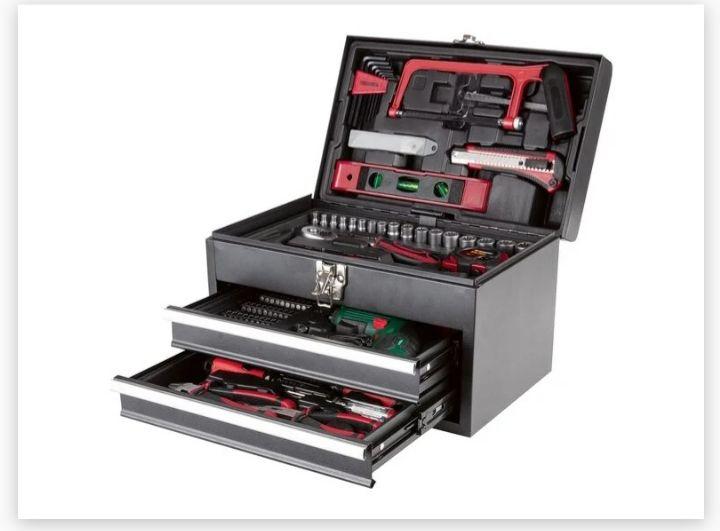 Maletín de herramientas con atornilladora recargable 92 pzs. (Solo online)