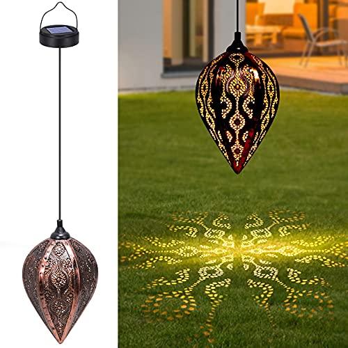 Tencoz Lámpara Solar Exterior Jardin Decorativa Colgante IP44 Impermeable