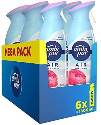 Ambi Pur Ambientador Casa Spray, 1.8 L (6 x 300 ml)