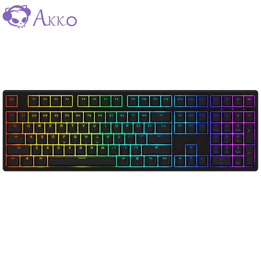 Teclado mecánico AKKO 3108 - 108 Teclas RGB teclado 85% teclas PBT AKKO Rosa interruptor para AKKO - Desde España