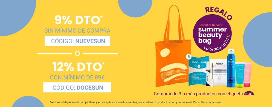 Regalo bolsa con artículos para el verano + 9% descuento