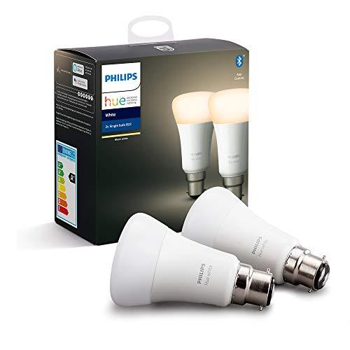 Philips Hue - Juego de 2 bombillas LED [B22]