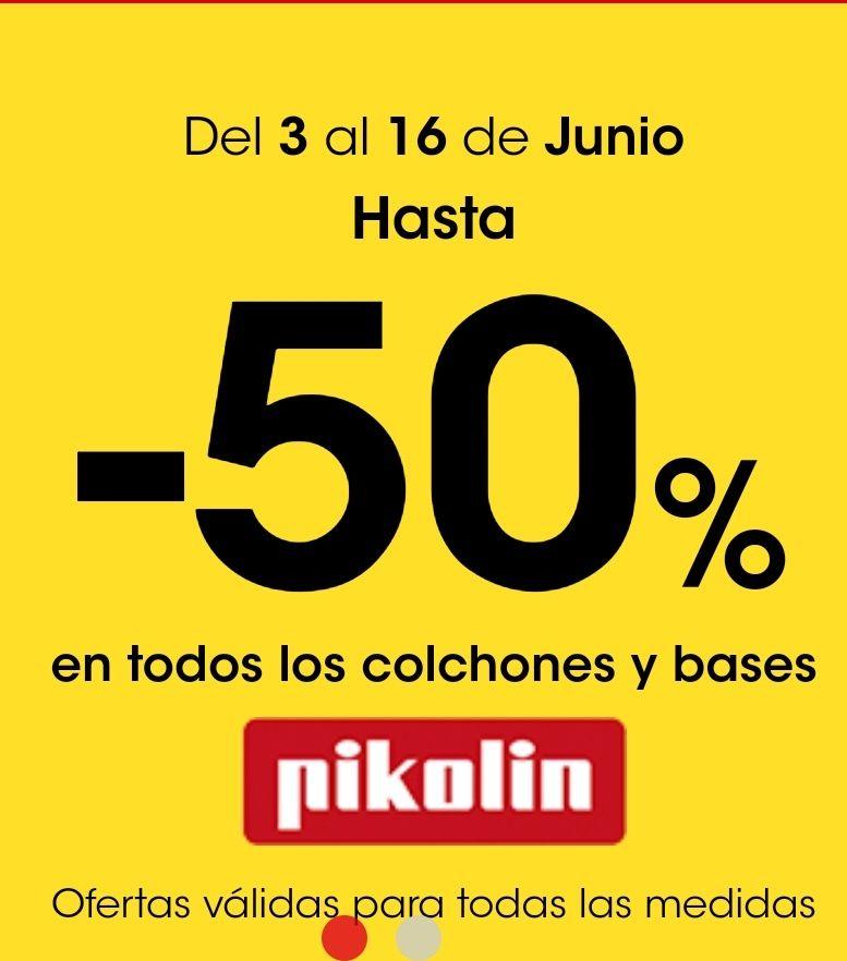 Colchones y bases Pikolin al 50%
