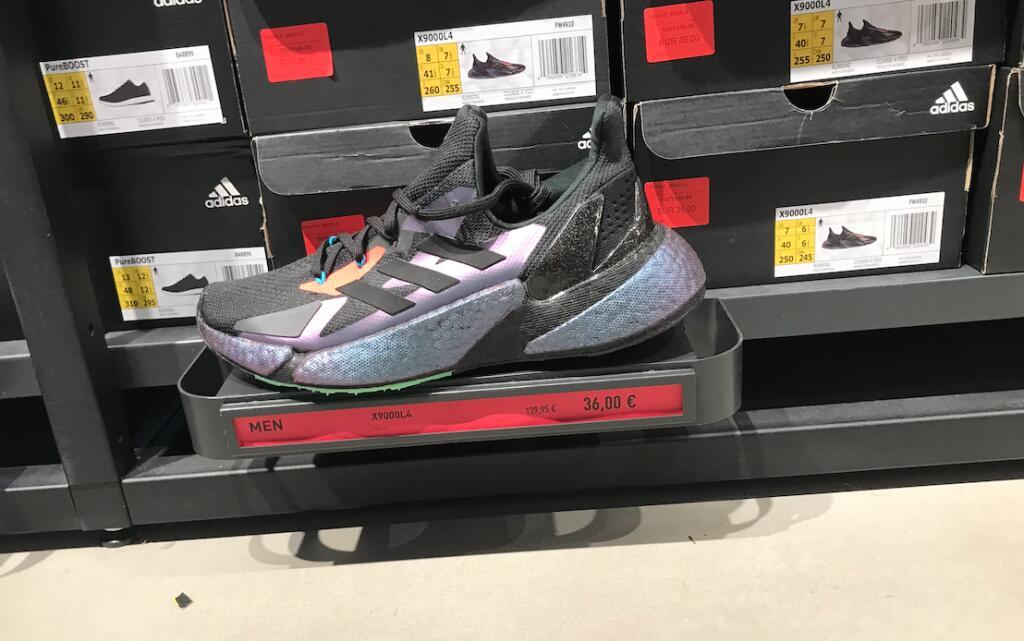 Zapatillas Adidas X9000L 4 en la tienda Adidas, en Jerez de la Frontera.
